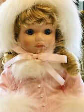 VINTAGE RARE FRIENDLY HOME PARTIES WINTER WONDERLAND PORCELAIN DOLL NEW IN BOX