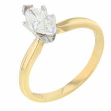 Marquise Solitaire Yellow Gold Fine Diamond Rings
