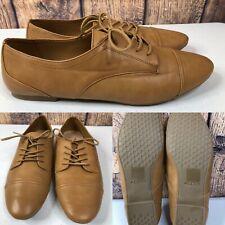 Womens ALDO Tan-Brown Oxford Shoes Flat Cap Toe Sneakers SIZE 10 EUR 41 (UK 8)