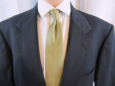 Mens Navy Striped Executive suit  BY STAFFORD HARTMARX 100% Worsted Wool, 40L