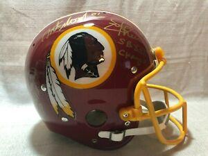 John Riggins Art Monk Joe Theismann Signed Full Size Suspension Helmet JSA