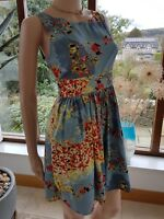 ladies floral dress size 8 10 Italian