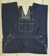 Vintage Sears Roebucks Bib Overalls Size 46x30 Denim New Old Stock