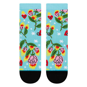 Stance NEW Kids Cavolo Floral Socks - Capri Blue BNWT