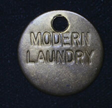 24 mm Modern Laundry Keychain Fob Vintage brass tag plaque