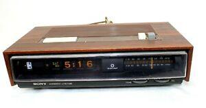 Sony Digimatic Lifetime Vintage FM/AM Digital Clock Radio TFM-C770W Tested Works