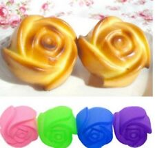 Rosa de Silicona Molde Mini Jabón Chocolate Fondant arcilla Jalea Hielo