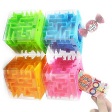 Money Maze Coin Honeycomb Puzzle Box Bank BrainStorm Gift Full Transparent