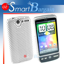 WHITE MESH Cover Case For HTC G7 Desire Bravo + Film