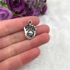4pcs Baseball Glove Charm Tibetan Silver Bead Finding Jewellery Making 21x14mm