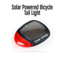 Solar Powered Bicycle Tail Light Safety Light - 3 Modes - Cyclists