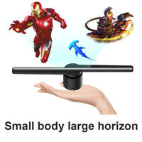 3D LED Holographic Projector Display Advertising Hologram Player Lamp Fan Photos