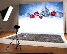 Winter Colored Snowballs Photography Backdrop Vinyl 5x3Ft Background Studio Prop