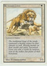 Unlimited  Savannah Lions  MTG    Magic  Rare