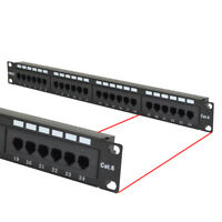 Cat6 UTP 24 Port Network LAN Patch Panel 1U 110 with cable management