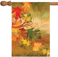 Toland Autumn Aria 28 x 40 Colorful Beautiful Fall Leaf Leaves House Flag
