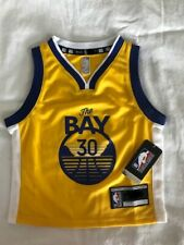 Stephen Curry San Francisco Warriors Toddler Size 3T Statement Jersey.