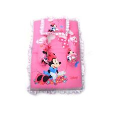 Baby Bedding Of Cotton Bolster and Pillow Set Of 4 With Minnie Mouse Print, Pink