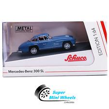 Schuco 1:64 - Mercedes-Benz 300 SL (Blue) - Diecast Model Car