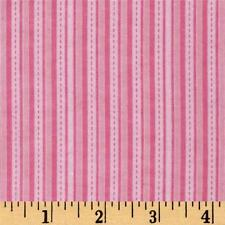 Fabric Baby Blender Stripes & Dashes on Pink Flannel 1 Yard