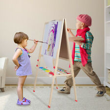 New Magnetic All in 1 Kids Drawing Painting Chalk Art Board Wooden Artist Easel