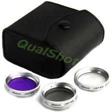 30mm LENS 3-FILTER Kit FOR  Sony Handycam HDR & DCR