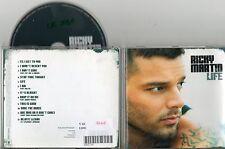 CD ALBUM  12T RICKY  MARTIN  LIFE DE 2005  TRES BON ETAT