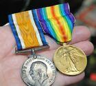 antique WW1 BRITISH U.K. ENGLAND WAR MEDAL LOT lte atchison can infantry soldier