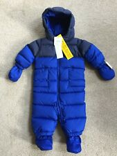 RALPH LAUREN FEATHER & DOWN RIPSTOP BUNTING ALL IN ONE SNOWSUIT AGE 9-12 MTHS