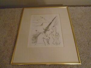 Salvador Dali 1966 Lady And The Unicorn - Original FRAMED Print
