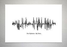 Foo Fighters - My Hero - Sound Wave Print Poster Art