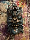 """20""""X11"""" Chinese Wood Lacquerware Painting demon devil Face vizard mask"""