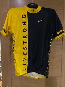 Livestrong Nike Mens Cycling 3/4 Zip Jersey/ Top. Size Medium