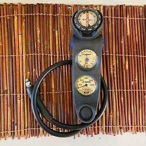 SHERWOOD Scuba Diving Console SPG/Depth Gauge/Compass/Thermometer