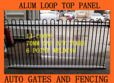 Black Loop Top Fencing Aluminium Pool Fence Panel - 2.4x1.2m