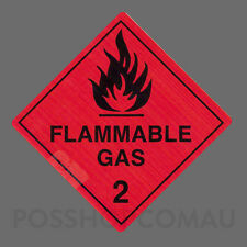 1000 x Flammable Gas 2 Label Stickers 20x20mm