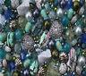 Seascape Tones Blue Jewellery Making Beads Mix Starter Kit Set 80g