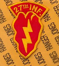 US Army 27th Infantry Regiment 25th Inf Div KOREA tab arc patch