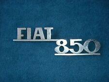Emblem / Badge Fiat 850 aus Metall ca. 18 cm lang, 2 Befestigungsstifte Pins