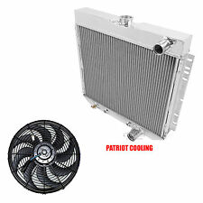 "1967-1969 Ford Fairlane CHAMPION 4 Row Aluminum Radiator & 16"" Fan (22""width)"