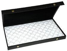 50 White Gem Jars Display Case Gemstone Storage Container Organizer Travel