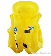 Inflatable Yellow Life Jackets Vest Outdoor Water Sports Kids Unisex Boating PFD