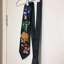 Vintage 90s 00s M&Ms Novelty Neck Tie Mars Company Mens Classic Length Black