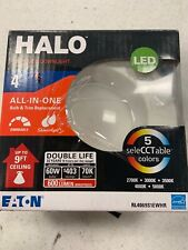 Halo Rl 4 in. White Integrated Led Recessed Ceiling Light Retrofit Trim