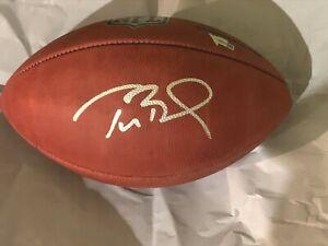 Tom Brady Signed NFL Official Duke Game Football Mint Autograph Fanatics