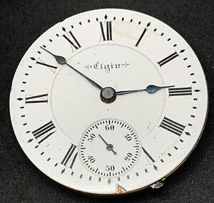 Elgin Grade 249 Pocket Watch Movement 18s 17j Hunter Model 4 Ticking F5525