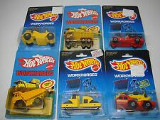 LOT OF 6 HOT WHEELS-WORKHORSES-FIRE-CONSTRUCTION-DELIVERY---CHECK OUT MY LIST---