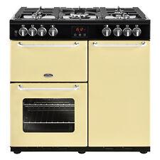 Belling Sandringham 90dft 90cm Dual Fuel Range - Electric Ovens & 5 Burner Hob