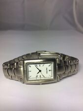 Women's Nautica Watch Silver Tone Rectangular Dial Roman Numerals New Battery