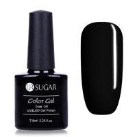 7.5ml Black Shiny Color Soak Off UV Gel Polish Manicure Nail Art LED Lamp Gel